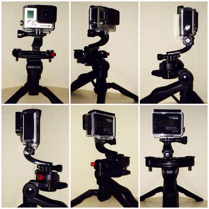 GoPro Hero 3+ Black Edition mounted on tripod using Peak