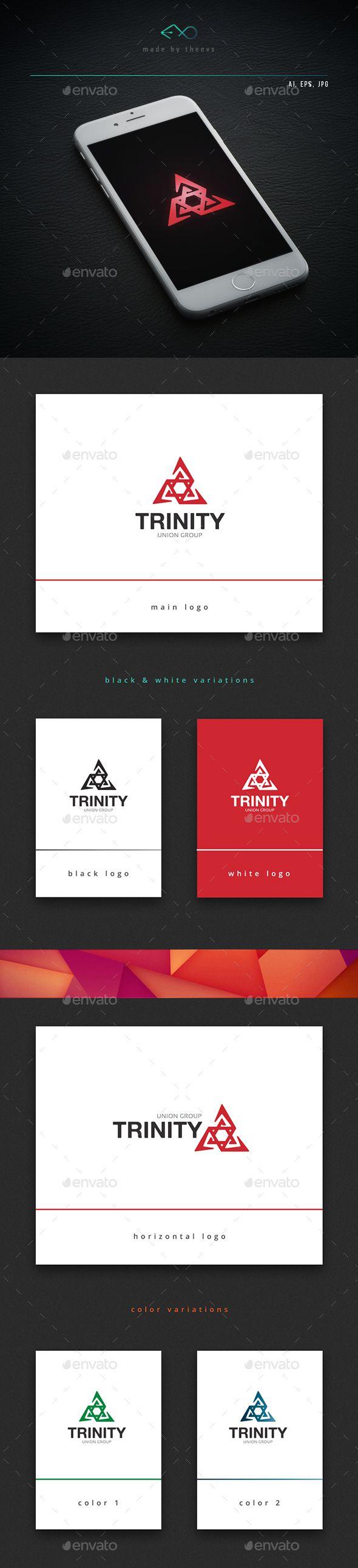 Trinity — Vector EPS #star #company • Available here → https://graphicriver.net/item/trinity/13078556?ref=pxcr