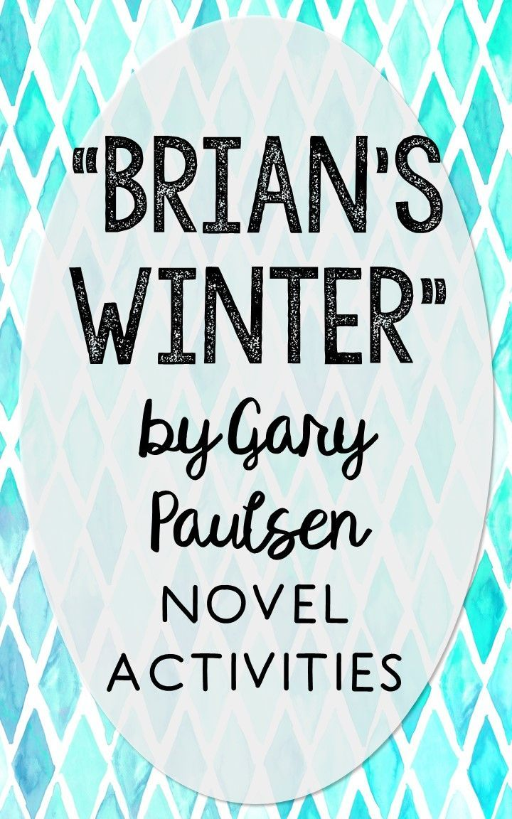 Brian's Winter Novel Unit Study Activities, Bookpanion Worksheets,  Project