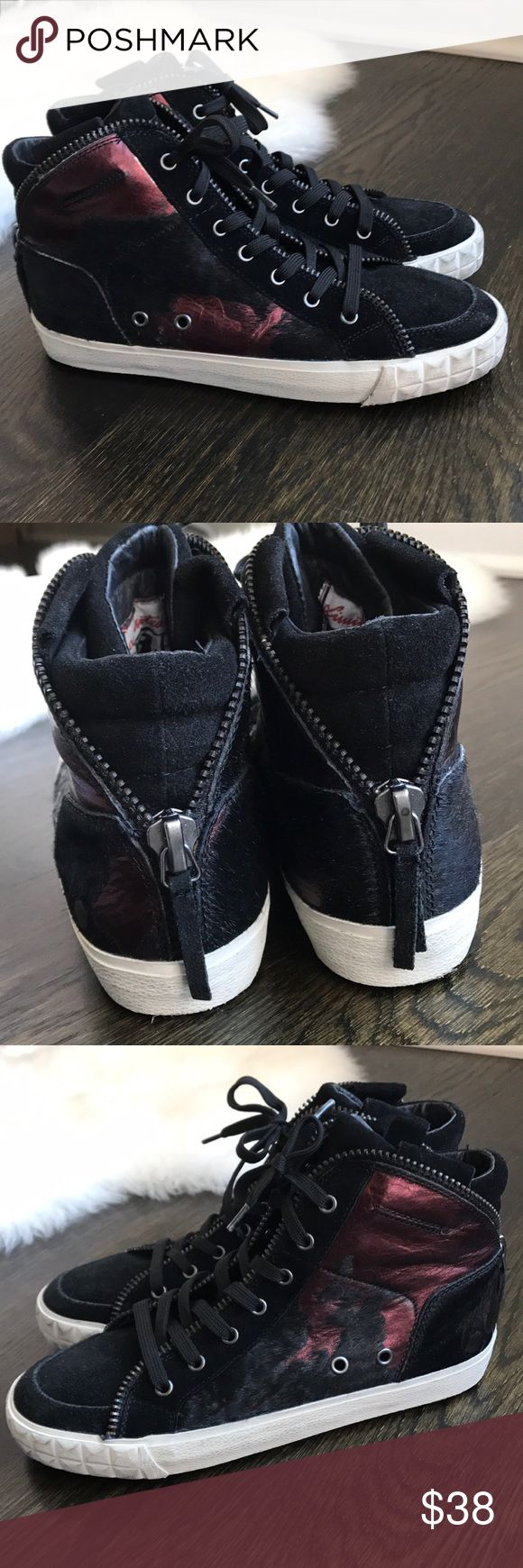 Ash Hightop Sneakers ❗️PRICING FIRM❗️ ❗️Please Note: pricing is beyond fair and reasonable. Sneakers worn once - in near perfect condition. No price reduction past this price point will be considered.   ❗️If unsure about sizing or fit; please inquire for more details prior to purchase. Ash Shoes Sneakers