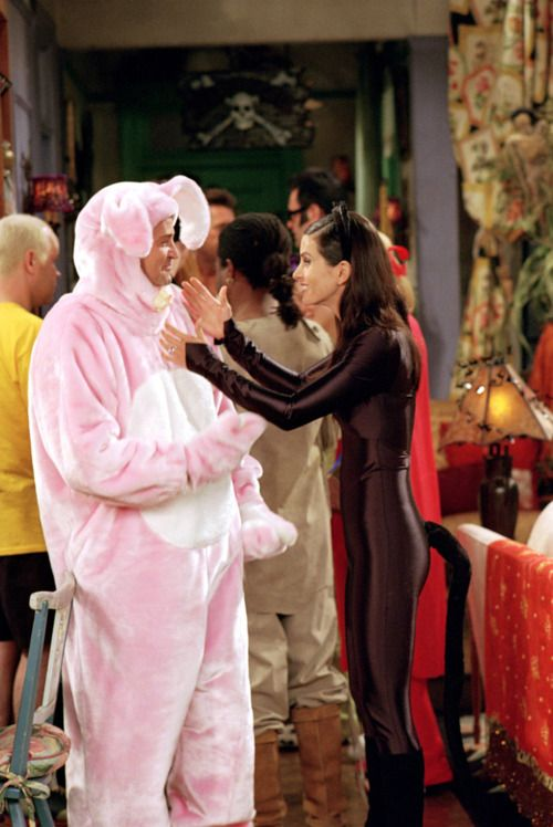 #Monica and #Chandler the halloween party.. Always No Bunny, Funny #Friends TV show quote