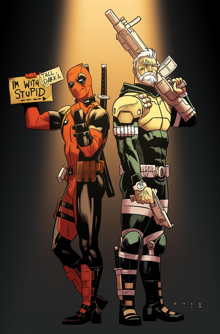 STEAK AND SOURDOUGH / my variant cover for Deadpool & Cable<==nice