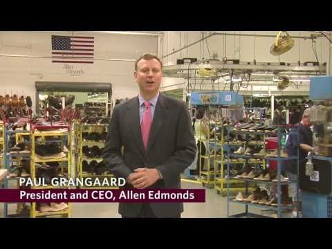 Take an inside look at the manufacturing operations at Allen Edmonds Shoe Corporation in Port Washington, Wisconsin. See how some of the finest shoes in America are hand crafted from start to finish.