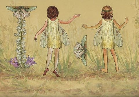 FLOWER FAIRIES Paper Dolls and Flower Fairies Friends from Penguin Group published 2005. Front and Back Designs for Dolls and Dresses 6