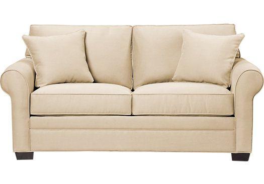 Cindy Crawford Home  Bellingham Vanilla Sleeper Loveseat  from Sleeper Loveseats Furniture