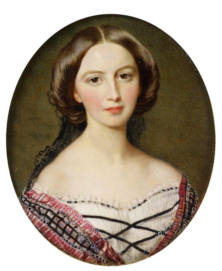 1857 Princess Feodora of Hohenlohe-Langenburg (1839-1872) by Sir William Ross