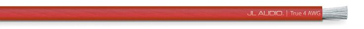 Cable transparente Rojo calibre 4 (30.5 m)