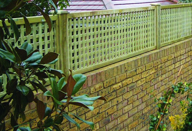 lattice on top of brick fence | So, instead of close board fencing, we'd have trellis (trellis picture ...