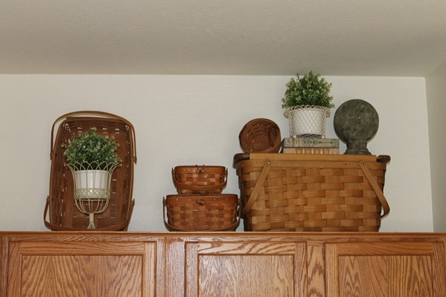 17 best images about collections longaberger baskets on for Baskets on top of kitchen cabinets