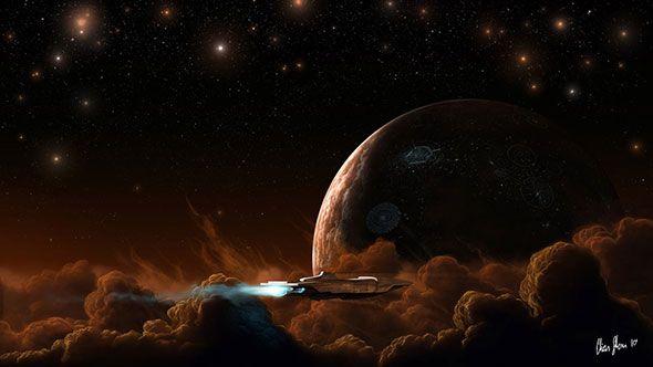 Космическая тематика в иллюстрациях