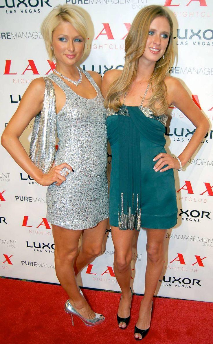 Paris and Nicky Hilton Nicky's 25th birthday party at LAX nightclub in Las Vegas, October 5 2007