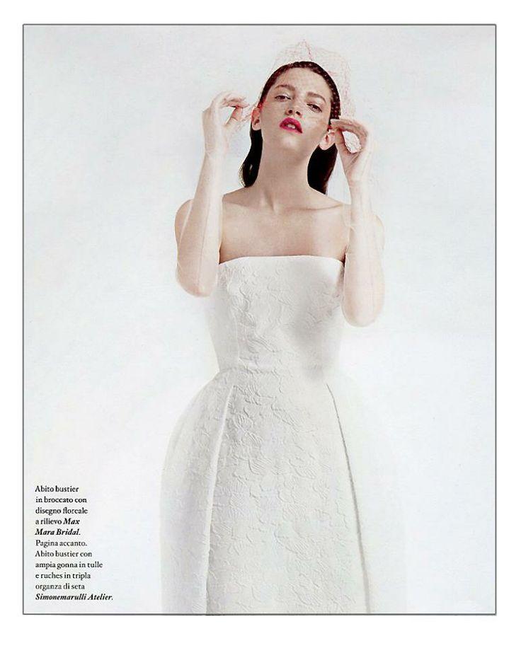 Io Donna di Febbraio 2014 Abito Althea, Max Mara Bridal 2014 #maxmarabridal #weddingdress #abitodasposa