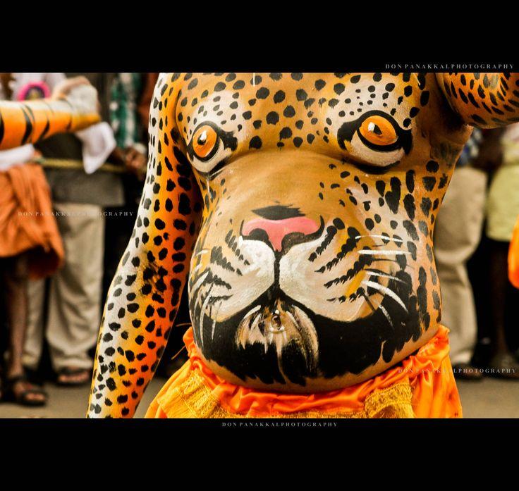 pulikali celebrations onam celebrations body art thrissukaran