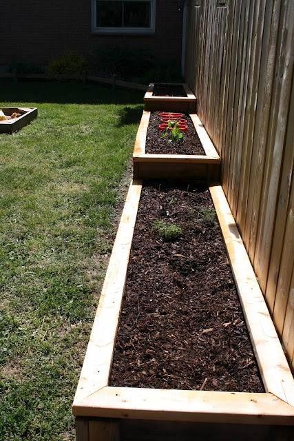 outdoors veggies or flowers raised bed