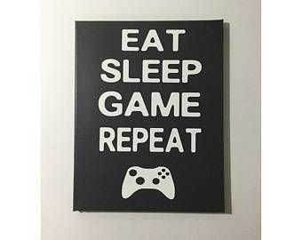 Gamer decor – painted canvas sign – gift for gamer – video game decor – gamer room decor