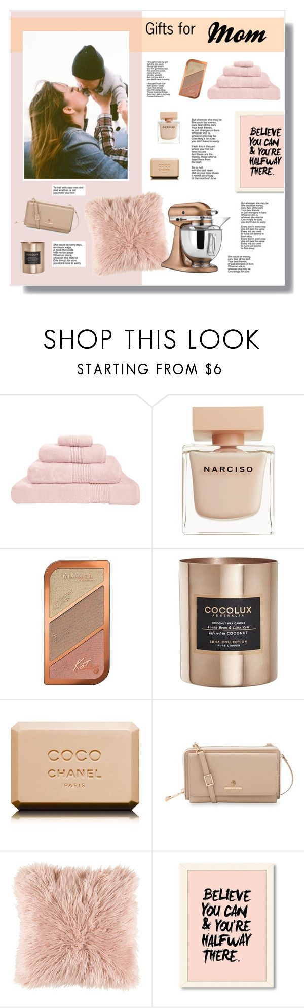 // 1336. Gifts for Mom by lilymcenvy on Polyvore featuring Spartina 449, Rimmel, Narciso Rodriguez, Chanel, Surya, KitchenAid, Hamam and Cocolux