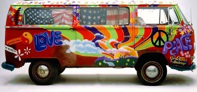 60's Peace and Love VW Van