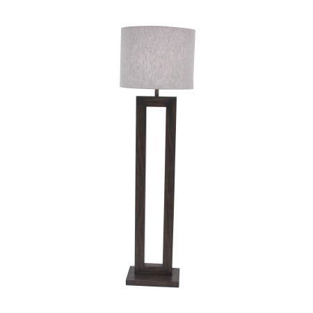 Best 25 brown floor lamps ideas on pinterest tall living room decmode modern pine wood and iron rectangular dark brown floor lamp dark brown aloadofball Images