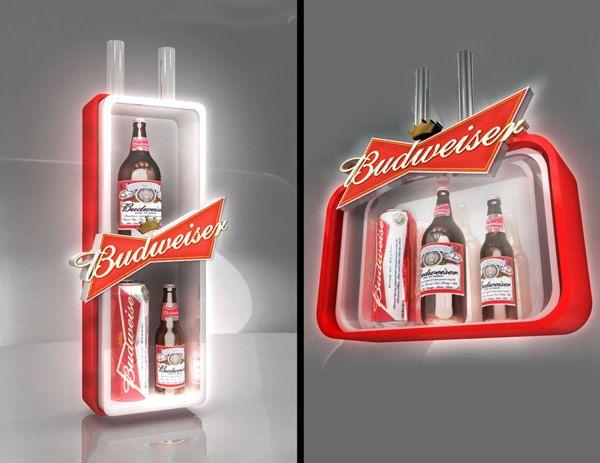 Exhibidores Budweiser - Stella Artois by Eddy Flores, via Behance