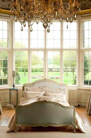 Luxury in the bedroom.: Dreams Bedrooms, Big Window, Vintage Chic, French Bedrooms, The View, Master Bedrooms, Bedrooms Decor, Chic Bedrooms, Beautiful Bedrooms