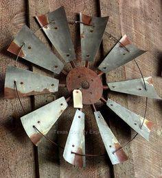 "30"" Rustic Windmill Head Fan Western Ranch Barn Farmhouse Wall Decor in Home & Garden, Home Décor, Wall Sculptures | eBay"