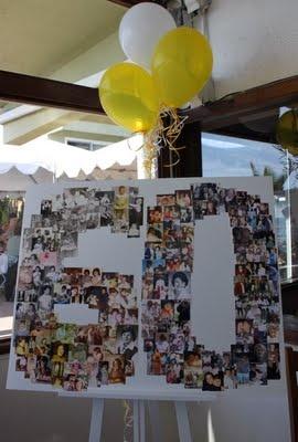 60th photo birthday board