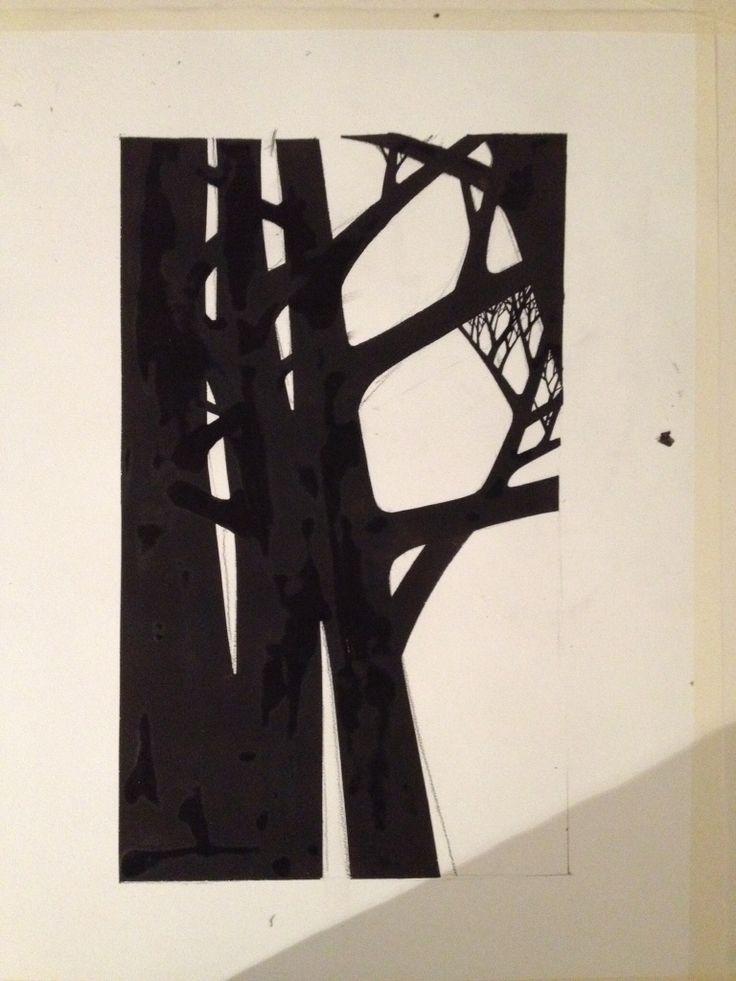 Trees Gouache on paper M. Agergaard 2014 #Colors #art #gouache #art