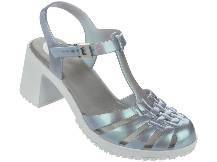 Dream Heel Silver Contrast   Be bang on trend this season with the classic jelly…