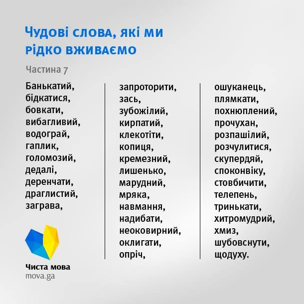 Для ласунів українського слова нова добірка смачних слів від Кіндрата Книша.