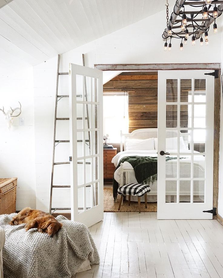 White farm house French doors leading to bedroom. Best 25  French doors bedroom ideas on Pinterest   Master bedrooms
