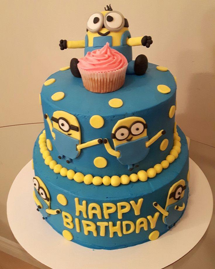 Minion Cake www.baileyslittlebakeshop.com