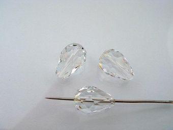 Хрустальная капля 9*6мм кристальная CRYSTAL/1шт