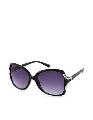 Melissa Diamante Square Sunglasses   Black   Accessorize