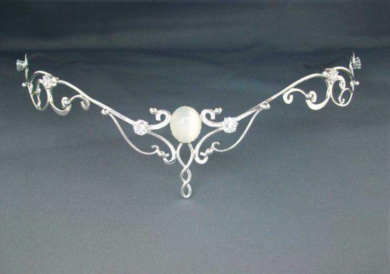Moonlight Circlet Wedding Bridal Celtic Elven by ElnaraNiall, $254.99