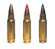 FN 5.7×28mm cartridges as used in P90 submachine gun and Five-seven pistol