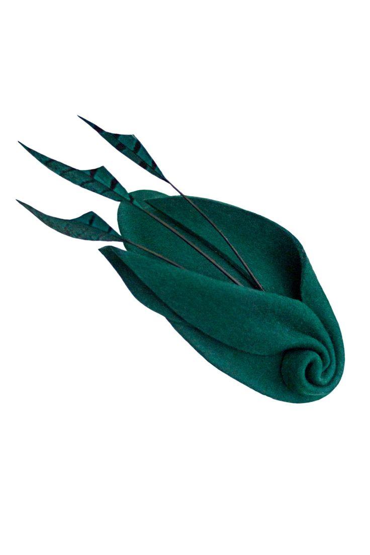 Fascinator cóctel sombrero con plumas tocados fieltro