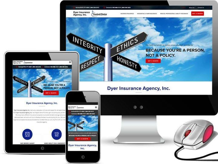 New Web Design Launched For Dyer Insurance Agency Based In Rockwall And Commerce Texas Https Buff Ly 2xoeu8m In