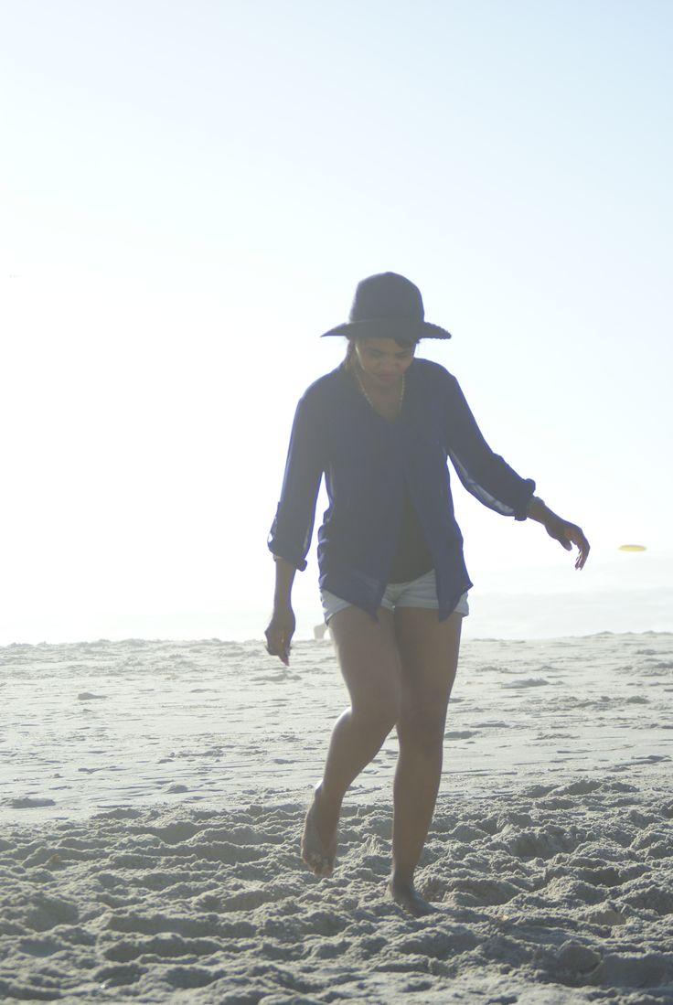 Walking at Camps Bay Beach.