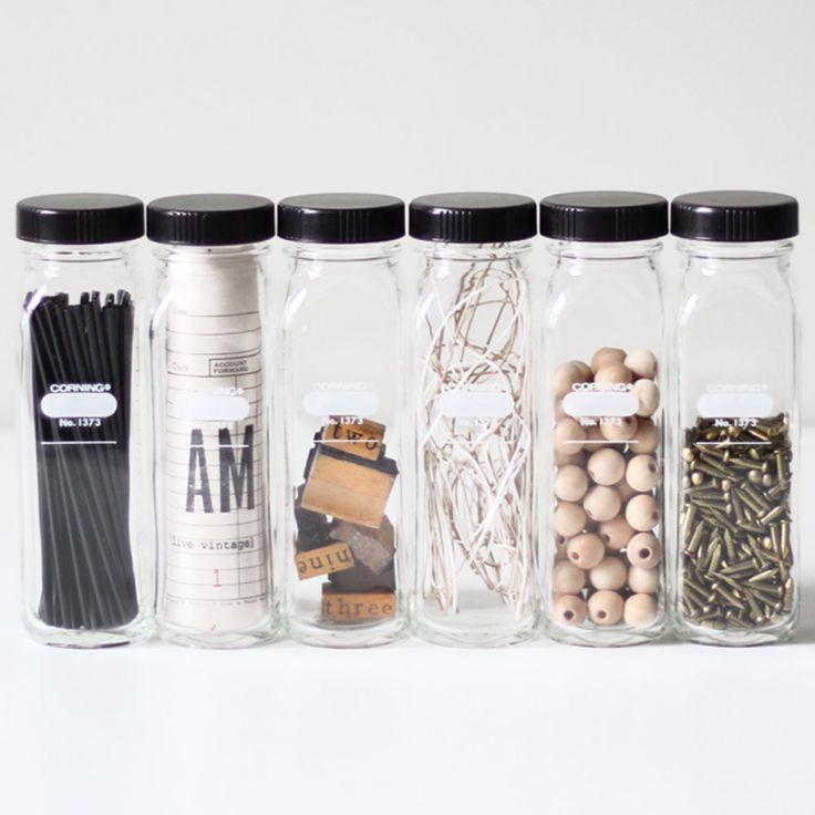 laboratory bottle set no.1 / glass storage jars. | AM Radio on etsy