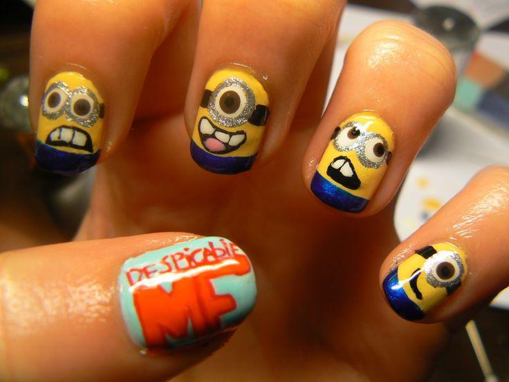 Minions!: Nails Nails, Nailart, Nails Design, Minions Nails Art, Minion Nails, Despicable Me, Nails Art Design, Nail Art, Despicableme