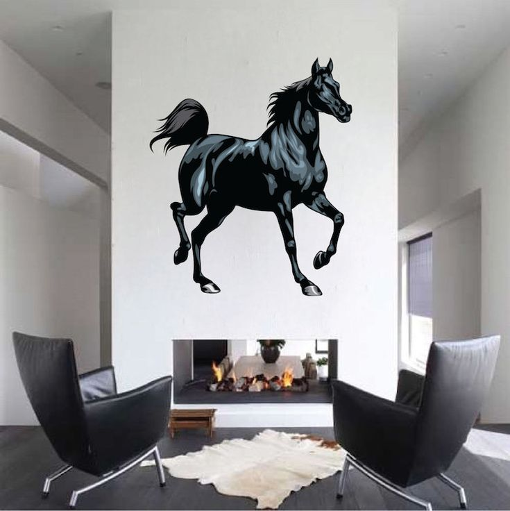 Black Horse Mural Decal - Animal Wall Decal Murals - Primedecals