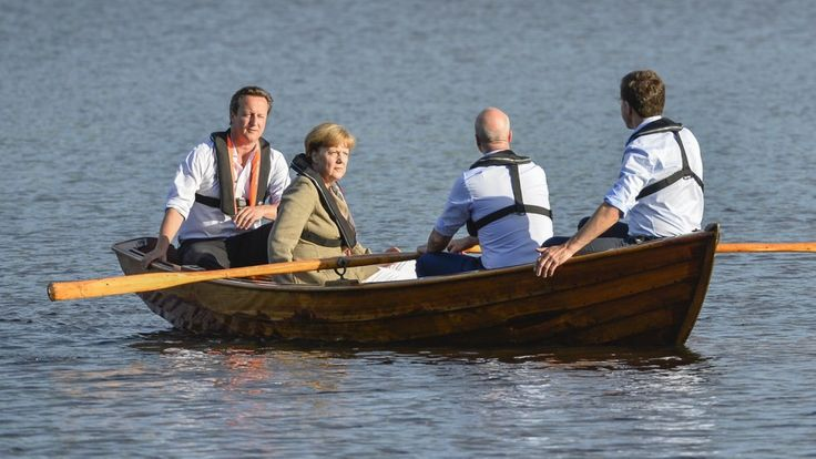 Angela Merkel e  David Cameron