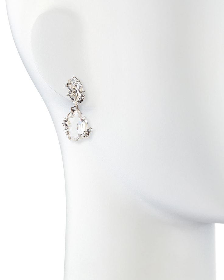 Buy Alexis Bittar Fine Women's Metallic Silver Ice Marquis Clear Quartz Drop Earrings with Diamonds, starting at $895. Similar products also available. SALE now on!