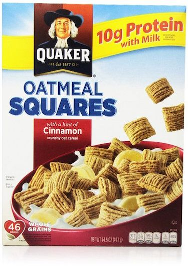 "HEALTHIEST CEREALS- ""Quaker Cereal Oatmeal Squares"" (Click for Top 5 list!)"