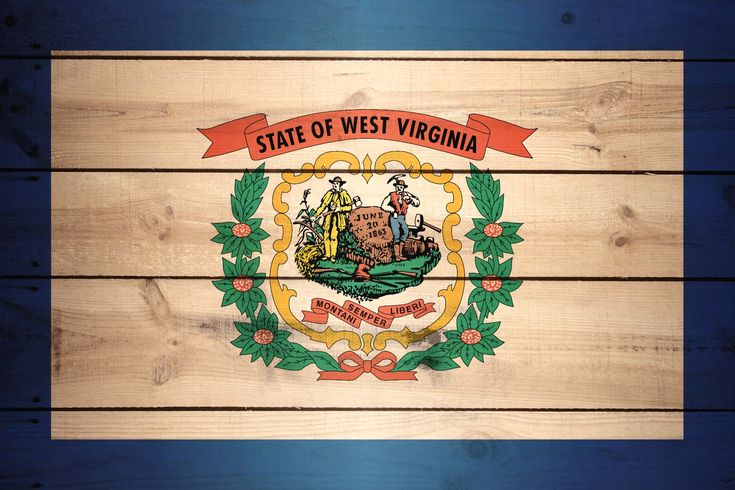 High Resolution Flag of West Virginia Wood Texture (With