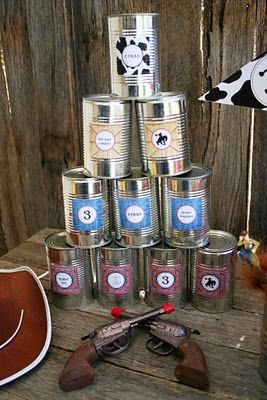 Giddy-Up Cowboy! Tin can Toss Game