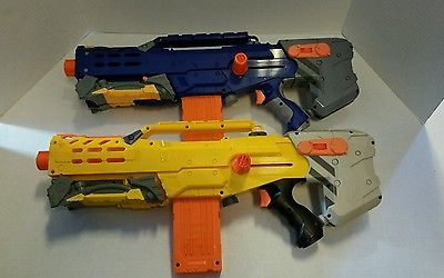 Lot of 2 Nerf Longshot CS-6 Dart Guns- See description