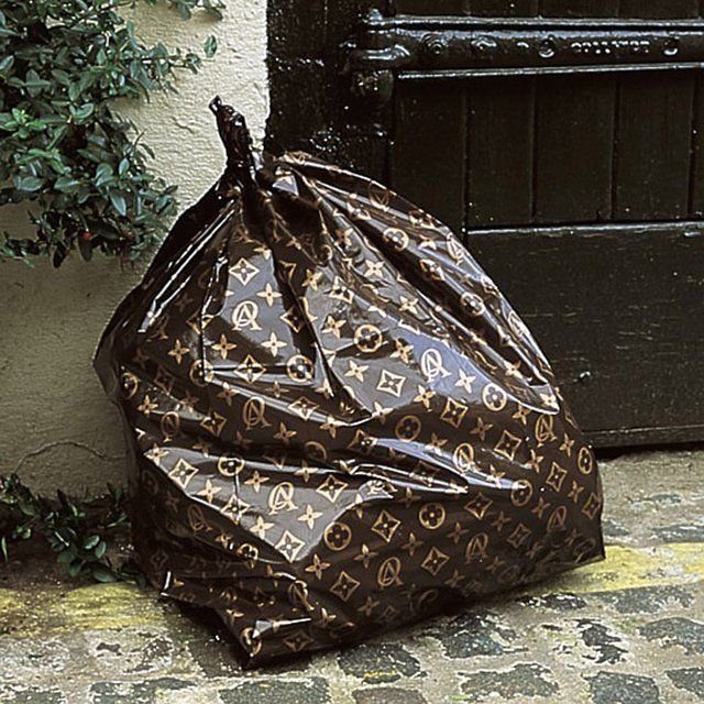 Oh darling, just taking the trash out. #louisvuitton