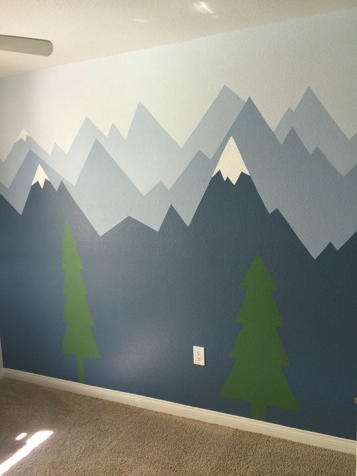 #mountain #mural #boyroom