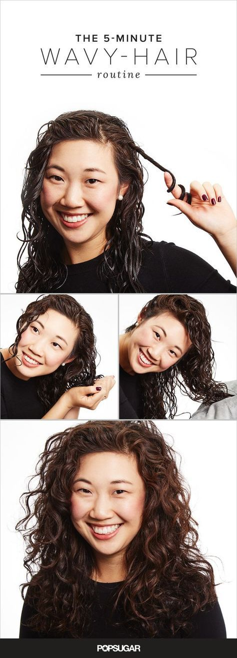 The 5-minute wavy hair routine